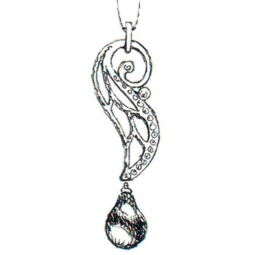 14kt White Gold Small Adorabella Pendant