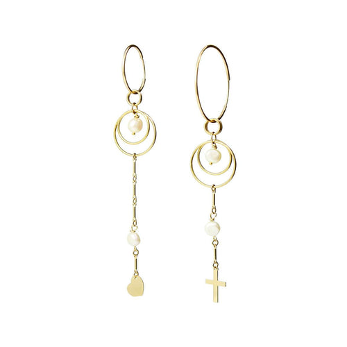 Yellow Gold Filled Archer Earrings