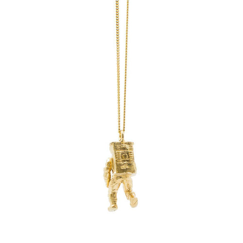 Yellow Gold Plated Astronaut Pendant