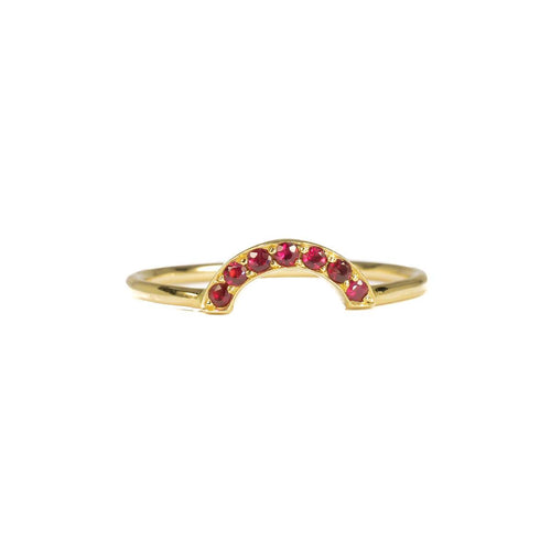 18kt Yellow Gold For Mara Ring With Rubies