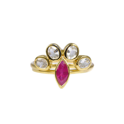 18kt Yellow Gold Tsavo Ring With Ruby