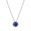 Birthstone Halo Necklace-Lafonn-JewelStreet US