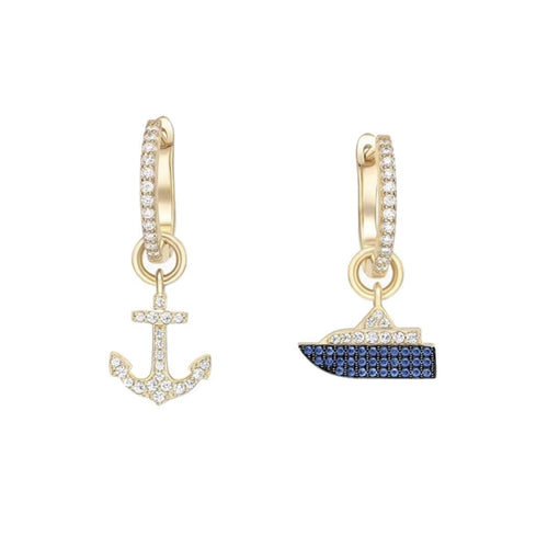 Gold Vermeil Boat & Anchor Earrings