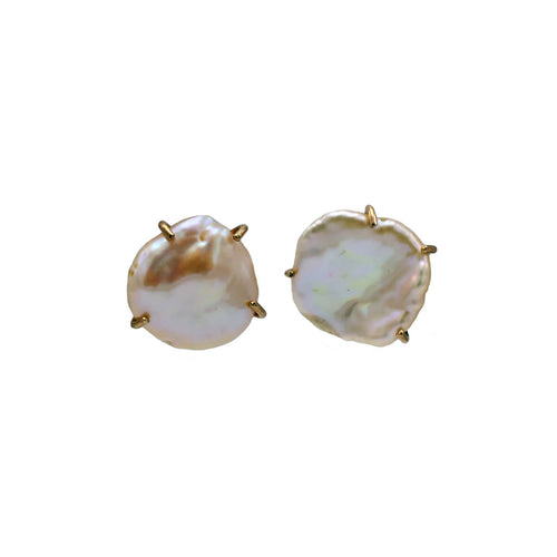 18kt Rose Gold Baroque Pearl Earrings ,[product vendor],JewelStreet