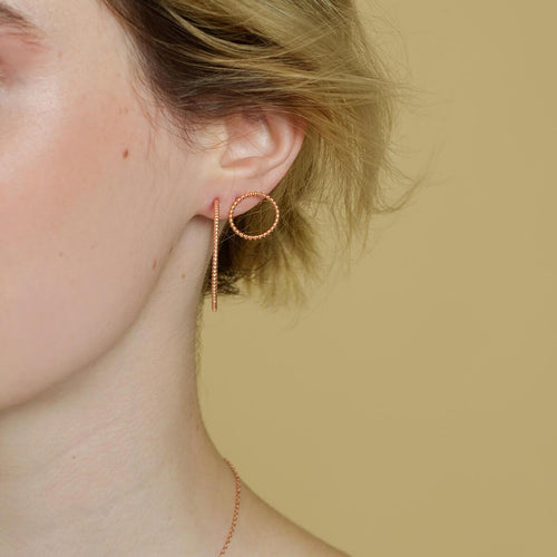 18kt Yellow Gold Vermeil Bijou Front Facing Hoops