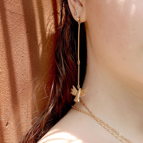 24kt Gold Plated Sterling Silver Bird Earrings