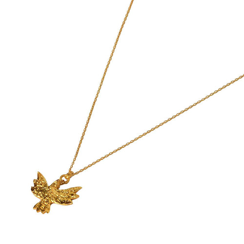 24kt Gold Plated Sterling Silver Bird Necklace