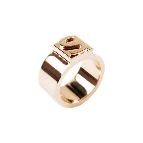14kt Rose Gold Block Ring C ,[product vendor],JewelStreet
