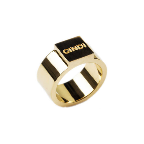 14kt Yellow Gold Block Ring W ,[product vendor],JewelStreet