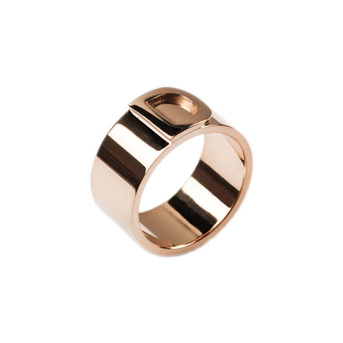 14kt Rose Gold Bold Character Ring ,[product vendor],JewelStreet