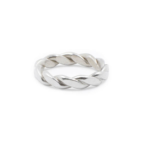 Sterling Silver Wide Braided Ring