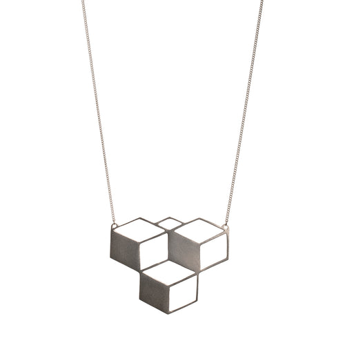 Sterling Silver BrickbyBrick Necklace ,[product vendor],JewelStreet