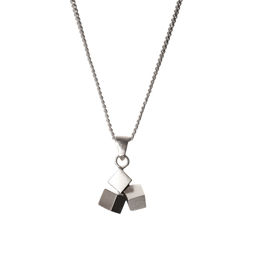 Sterling Silver Dangling Dice Necklace ,[product vendor],JewelStreet