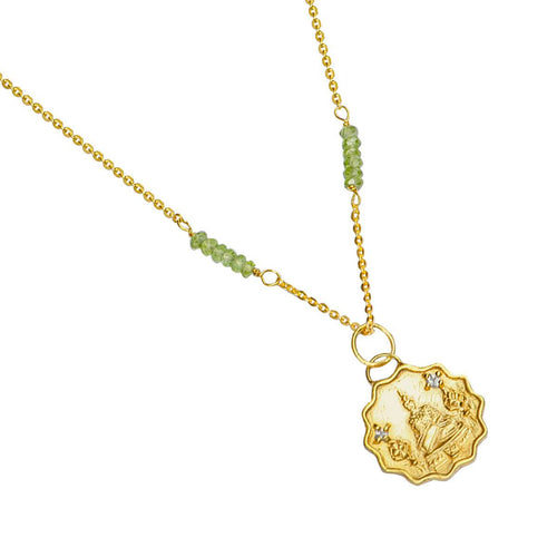 24kt Gold Plated Sterling Silver Buddha Of The Earth Necklace