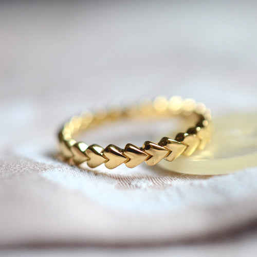 Yellow Gold Plated Always Forever Eternity Ring ,[product vendor],JewelStreet