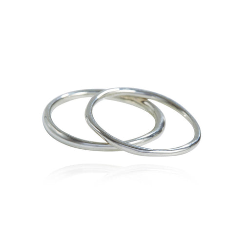Sterling Silver Come Together Stack Rings ,[product vendor],JewelStreet