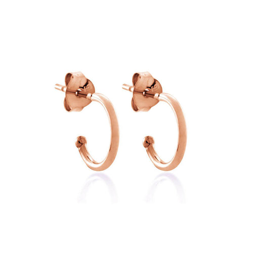 Rose Gold Plated Round Hoop Earrings ,[product vendor],JewelStreet