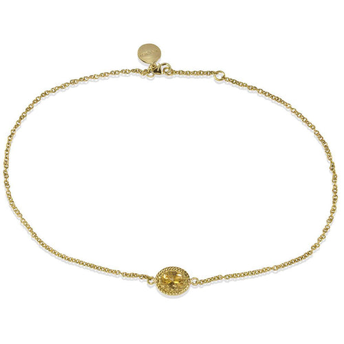 Luccichio Citrine Choker Necklace ,[product vendor],JewelStreet