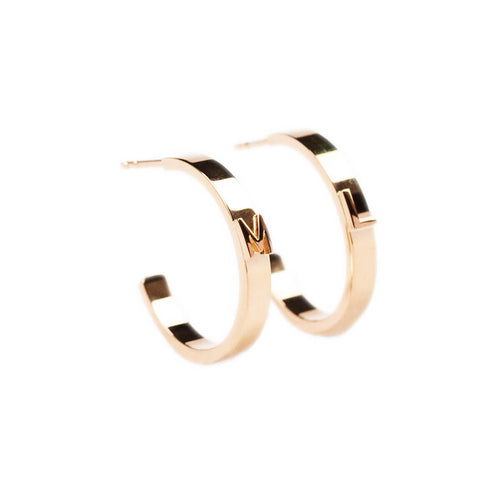 14kt Rose Gold Character Hoops ,[product vendor],JewelStreet