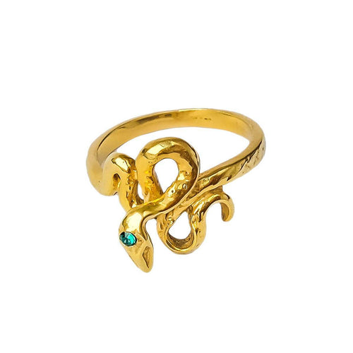 24kt Gold Plated Sterling Silver Cleopatra Snake Ring