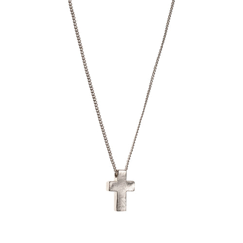 Sterling Silver Cross Necklace Large  ,[product vendor],JewelStreet