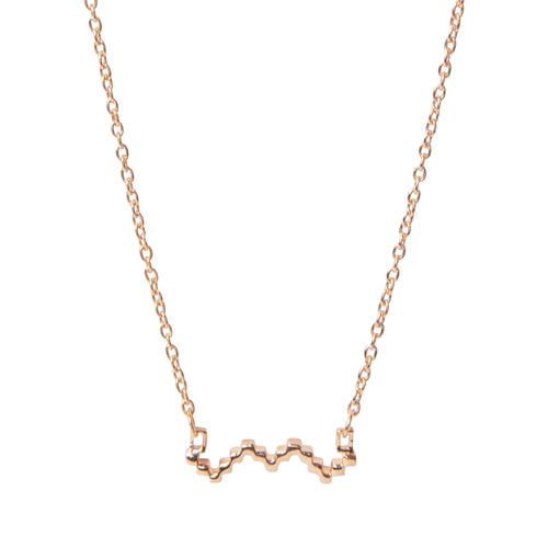 18kt Rose Gold Vermeil Baori Outline Necklace ,[product vendor],JewelStreet