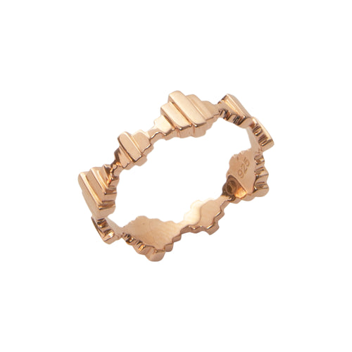 18kt Rose Gold Vermeil Baori Solid Ring ,[product vendor],JewelStreet