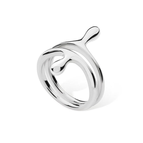 2 Ring Drop Silver ,[product vendor],JewelStreet