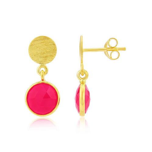 Yellow Gold Plated Salina Gemstone Earrings