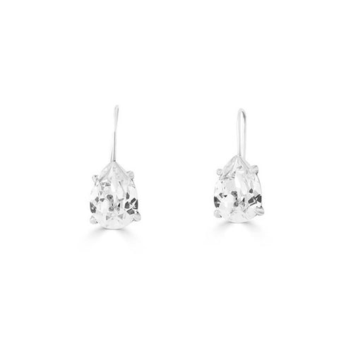 Sterling Silver Plated Pewter Crystal Katherin Earrings