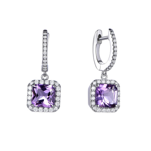 Sterling Silver Royal Asscher Cut Drop Earrings ,[product vendor],JewelStreet