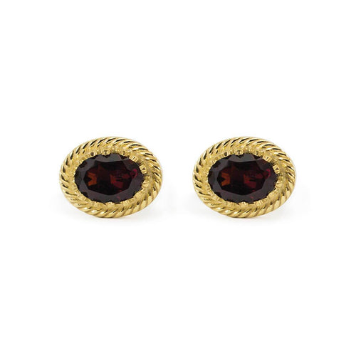 Luccichio Garnet Stud Earrings