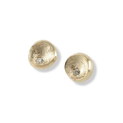 14kt Yellow Gold Little Gold Round Studs