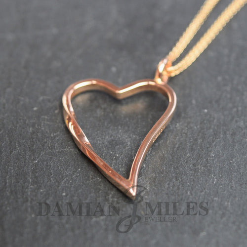 9kt Rose Gold Eternal Heart Necklace ,[product vendor],JewelStreet