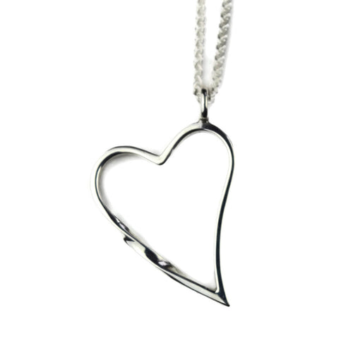 Sterling Silver Eternal Heart Necklace ,[product vendor],JewelStreet