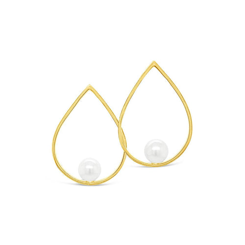 Yellow Gold Plated Euclid Earrings