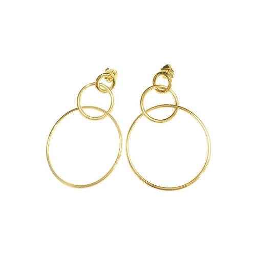Yellow Gold Plated Fitch Earrings