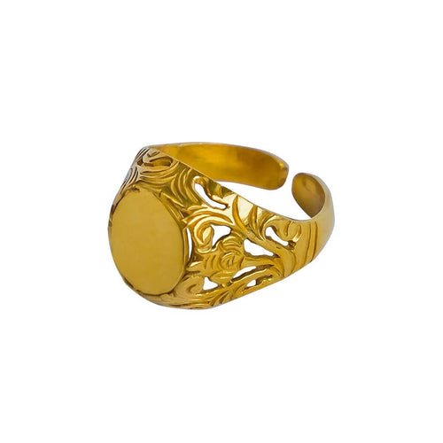 24kt Gold Plated Sterling Silver Family Ring