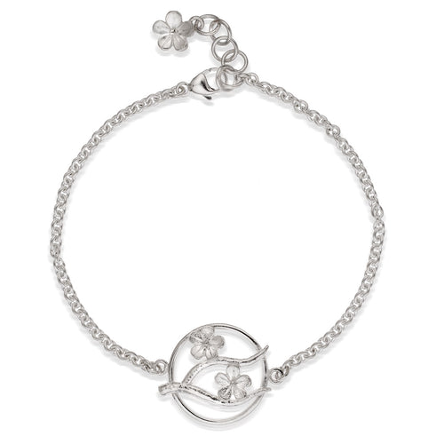 Silver Cherry Blossom Bracelet ,[product vendor],JewelStreet
