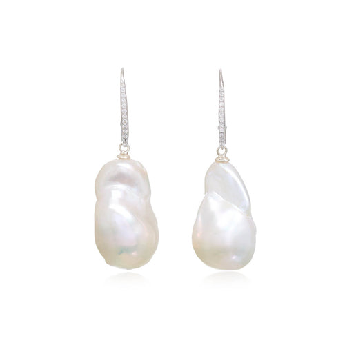Baroque Cultured Freshwater Pearl Drop Earrings ,[product vendor],JewelStreet