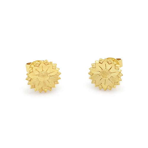 18kt Yellow Gold Fleur Studs ,[product vendor],JewelStreet