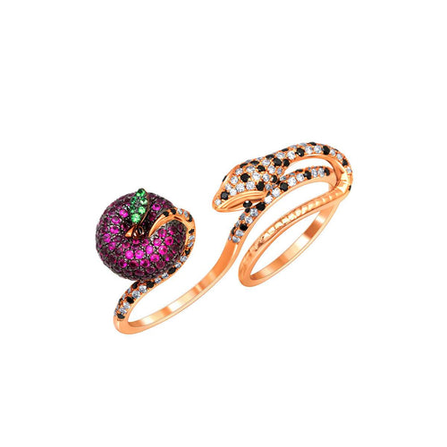 18kt Rose Gold Forbidden Fruit Ring