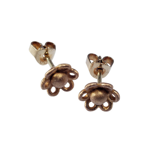 Yellow Gold Forget Me Not Stud Earrings ,[product vendor],JewelStreet