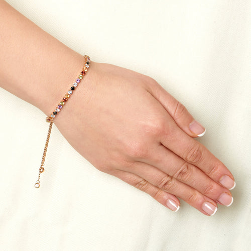 18kt Rose Gold Vermeil Sanchong Rainbow Gemstones Bracelet ,[product vendor],JewelStreet