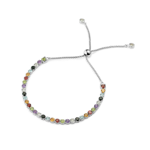 Sterling Silver Sanchong Rainbow Gemstones Bracelet ,[product vendor],JewelStreet