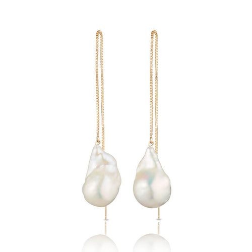14kt Gold Filled Baroque Freshwater Pearl Earrings - XL