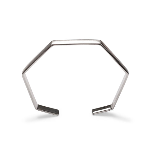 Sterling Silver Small Hexagon Bangle Bracelet ,[product vendor],JewelStreet