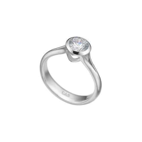 14kt White Gold Hiding Heart Ring