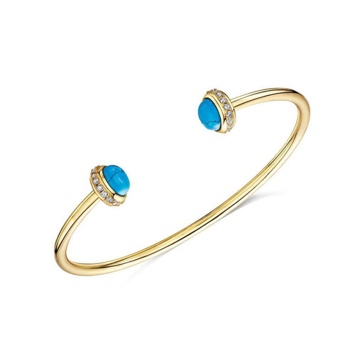 Yellow Gold Plated Rosanna Cuff Bracelet