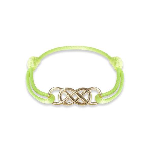 Yellow Gold Infinity Ibiza Bracelet With Yellow Neon Ribbon ,[product vendor],JewelStreet